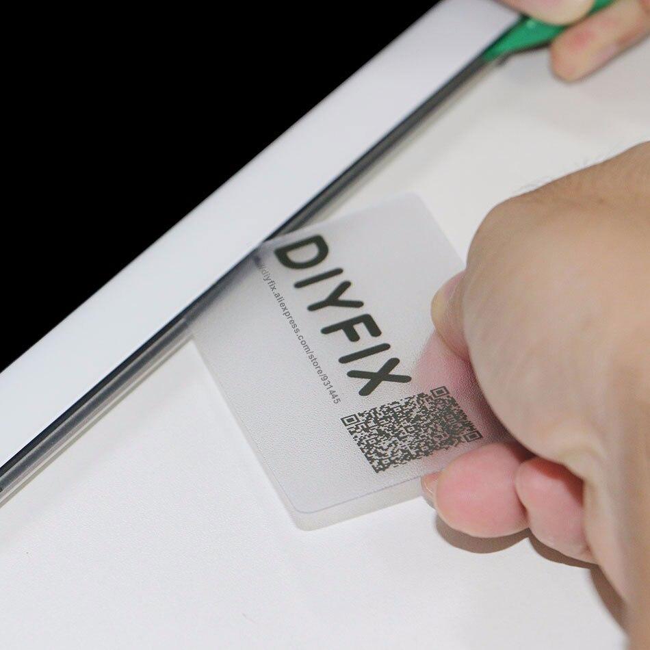 DIYFIX 5pcs Handy Plastic Card Pry Opening Scraper For IPad Tablet For Samsung Mobile Phone Glued Screen Repair Tool