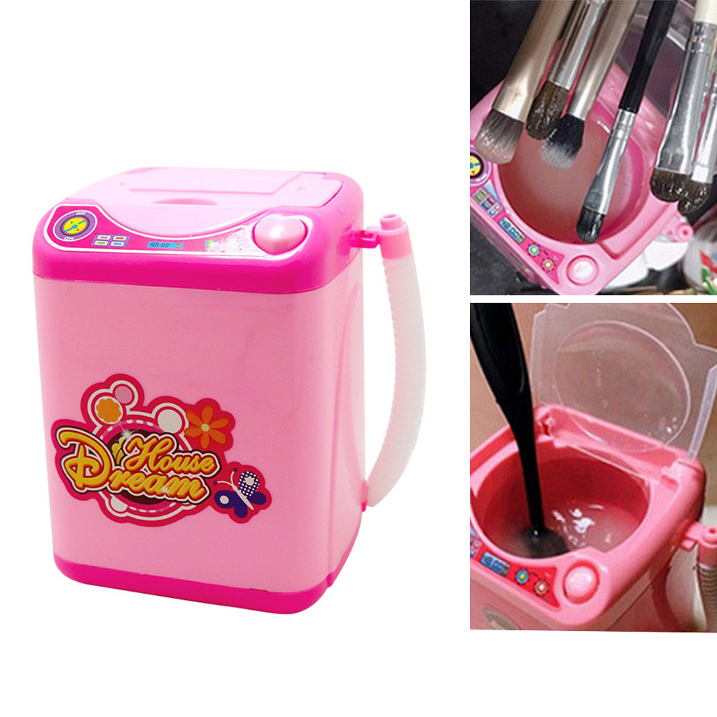 High Quality Practical Funny Cutie Makeup Brush Cleaner Device Automatic Cleaning Washing Machine Mini Clean Tool Drop Shipping