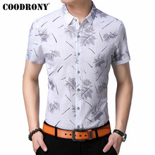 COODRONY Men Shirt 2019 Spring Summer New Arrivals Business Casual Mens Shirts Streetwear Slim Fit Short Sleeve S96048