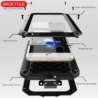 Waterproof Case For IPhone 5 5S SE 6 6S 7 7 Plus Heavy Duty Case Metal