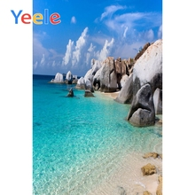 Yeele Summer Cloudy Sky Seaside Beach Island Photography Backgrounds Professional Camera Photographic Backdrops For Photo Studio