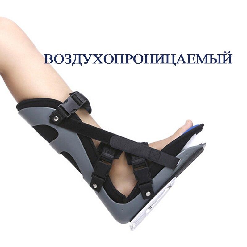 Kostenloser Versand Schwarz Professionelle verdrehsicherung Ankle Schützen Unterstützung Fuß Orthese Fuß Orthesen Schmerzen Bruch Rehabilitation - 6