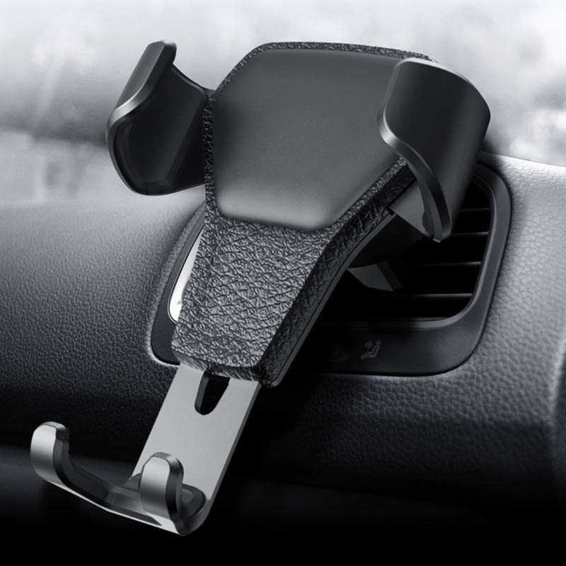Gravity Aluminium Alloy Phone Holder For Car Air Vent Mount Stand No Magnetic Universal Mobile Phone Smartphone Stand Holder mobile phone