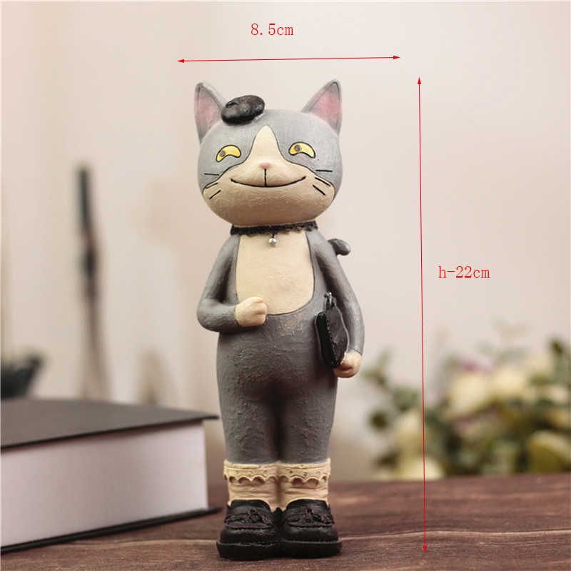 Creative H-22cm Kawaii  Nicole Cat Resin Crafts Accessories Figurine Piggy Money Pot Student Gift Birthday Gift Craft Home Decor