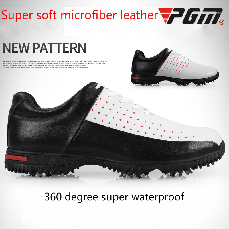 2018 Pgm Mens Golf Shoes Non Slip Men Sports Shoes Lightweight Waterproof And Breathable Without Spikes Golf Shoes AA10102 pgm authentic 2015 mens golf shoes men s leisure section fixed nail waterproof and breathable boys sports shoes