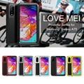LOVEMEI Leistungsstarke Metall Wasserdicht Fall Für Samsung Galaxy A70 Abdeckung Stoßfest Rüstung Defender Volle Körper Schutz Telefon Fall