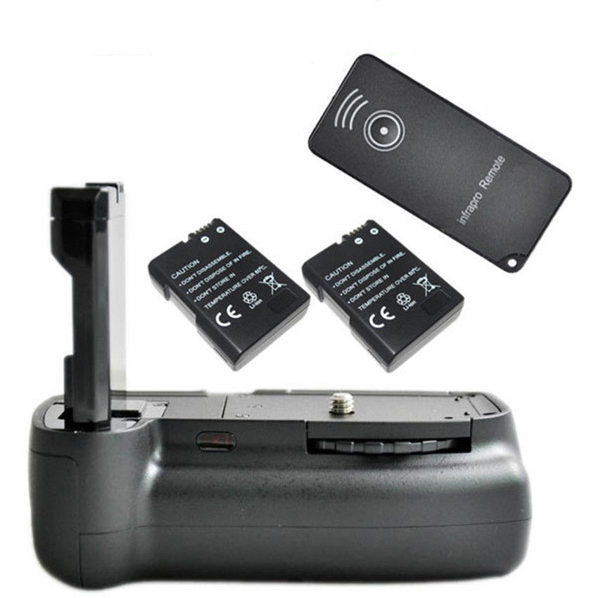 цена на JINTU Vertical Battery Grip +2x Decode EN-EL14 +IR Remote for Nikon D3100 D3200 D3300 DSLR IR Remote Control
