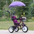 Горячие Продажи Детей Трехколесный Велосипед Ребенка 1-6 Лет Ребенок Коляска Прекрасный Портативный Ребенка Велосипед 3 Колеса Малолитражного Автомобиля с Зонтиком