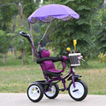 Venta caliente Niños Triciclo Bebé 1-6 Años de Edad Del Bebé Cochecito Portable Encantador Bebé Bicicleta 3 Ruedas de Coche de Bebé con Paraguas