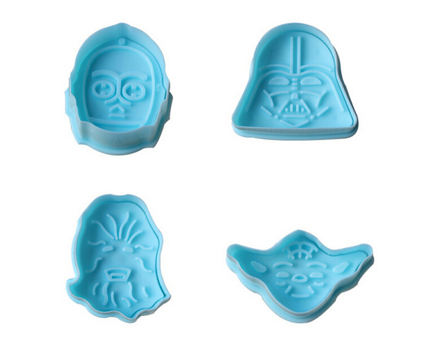 1Set Star Wars Cake Fondant Decorating Pastry Cookie Mold Plunger Cutter Tool Gift