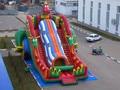 (China Guangzhou) corrediças infláveis, slides Castelo Dragão Azul slides CHA-114