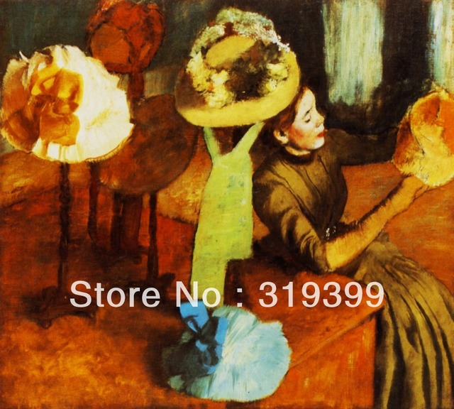 a7715b0043702 US $62.69 15% OFF Oil Painting Reproduction on Linen Canvas,The Millinery  Shop by edgar degas,Free DHL Shipping,100%handmade oil paintings,-in ...