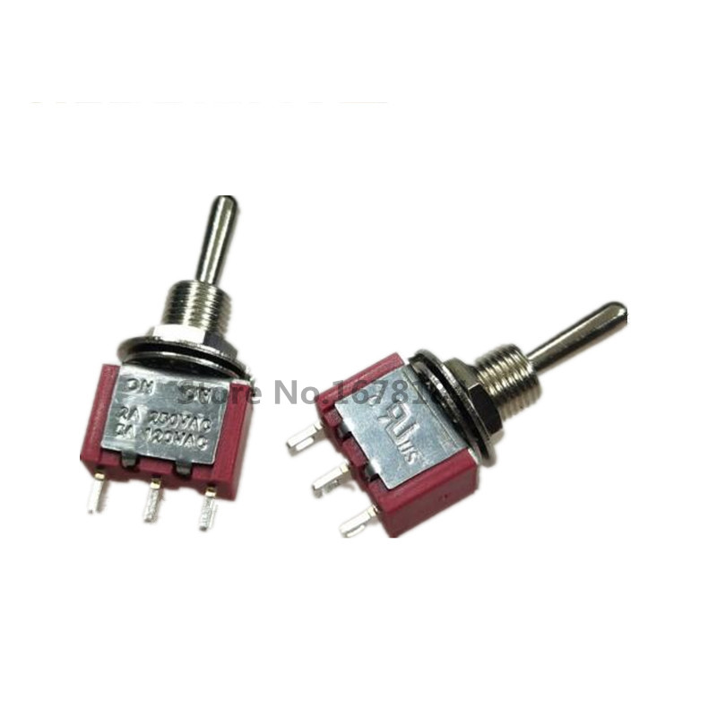 Double Pole Miniature Slide Switch Dpdt With Wiring Tags 125vac 0 3a