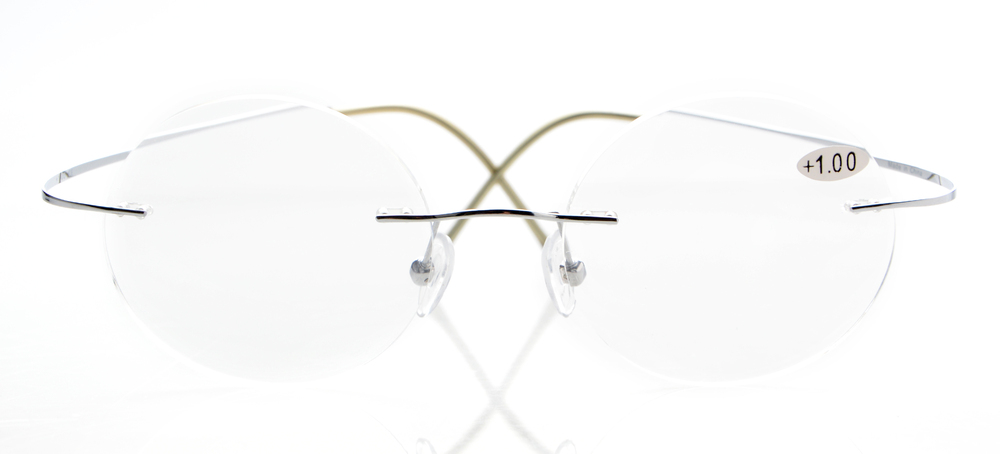 1121a10ba3da R15026 Eyekepper Titanium Rimless Round Reading Glasses Circle ...
