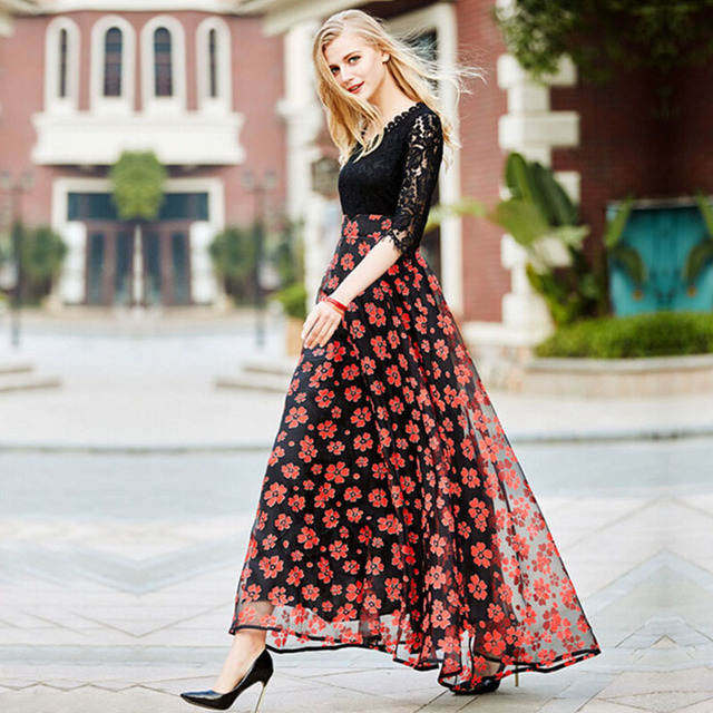 6b08e575ad9 MYCOURSE-2017-Spring-Summer-Women-s-Lace-Patchwork-Dress -High-waist-Slim-Big-Swing-Floral.jpg 640x640.jpg