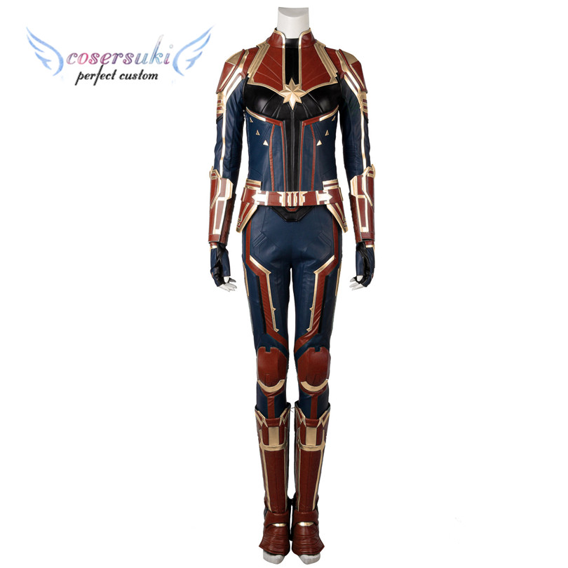Captain Marvel film Captain Marvel Cosplay Costumes Stage Performence Clothes Perfect Custom for You
