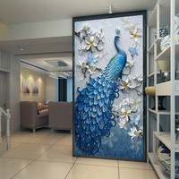 Peacock Poster Wall Art Canvas Painting Nordic Wall Pictures for Living Room Decor Mural Decoration Picture Art Print