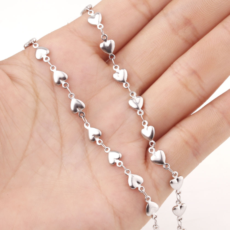 Aiovlo 50cm ze stali nierdzewnej delfin serce połączenie łańcuszek na akcesoria dla DIY naszyjniki bransoletki tworzenia biżuterii hurtowych