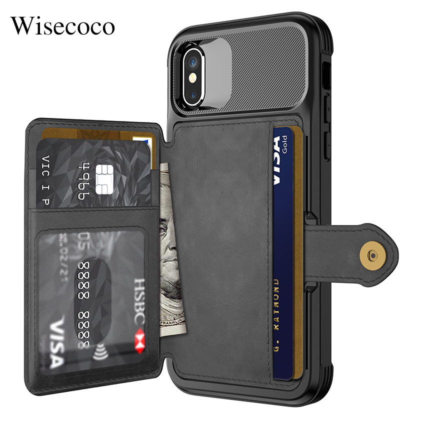 Luxury Multifunction Leather Wallet Case for Iphone Xs Max Xr X 8 7 6 6s Plus Card Stand Hybrid Silicone Bumper Soft Back CoverLuxury Multifunction Leather Wallet Case for Iphone Xs Max Xr X 8 7 6 6s Plus Card Stand Hybrid Silicone Bumper Soft Back Cover
