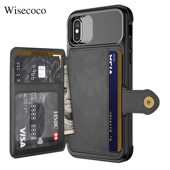 Luxury Multifunction Leather Wallet Case for Iphone Xs Max Xr X 8 7 6 6s Plus Card Stand Hybrid Silicone Bumper Soft Back Cover