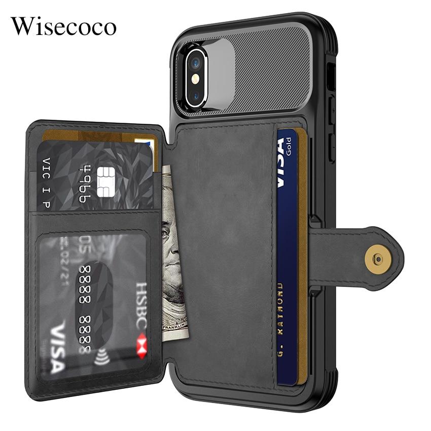 Luxus Multifunktions Leder Brieftasche Fall für Iphone Xs Max Xr X 8 7 6 6 s Plus Karte Stehen Hybrid silikon Stoßstange Weiche Rückseitige Abdeckung