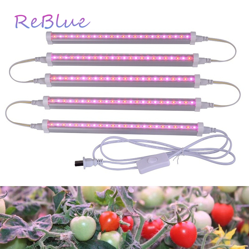 ReBlue Lamp For Plants Phyto-Lamp Led Grow Light 12W T5 Grow Light For Flower Full Spectrum Grow Led For Plants Flower Seedling