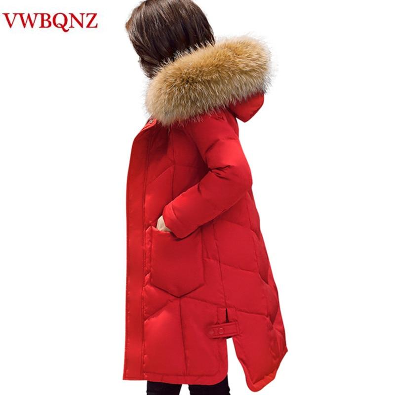 Winter   Parka   Jacket Women Korean Slim Raccoon Big Fur Collar Hooded Overcoat Coat High-grade Warm Thick Female Jacket Red Black