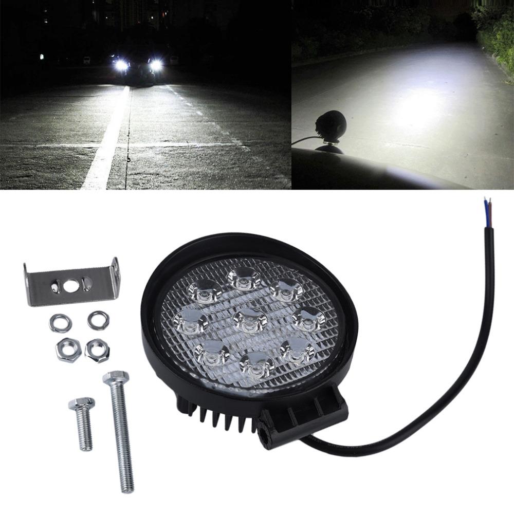 Prix pour 1 Pcs 27 W LED Light Work 12 V 24 V IP67 Brouillard Lumière Off route ATV Tracteur Train Bus Projecteur De Bateau 4x4 ATV UTV Travail lumière