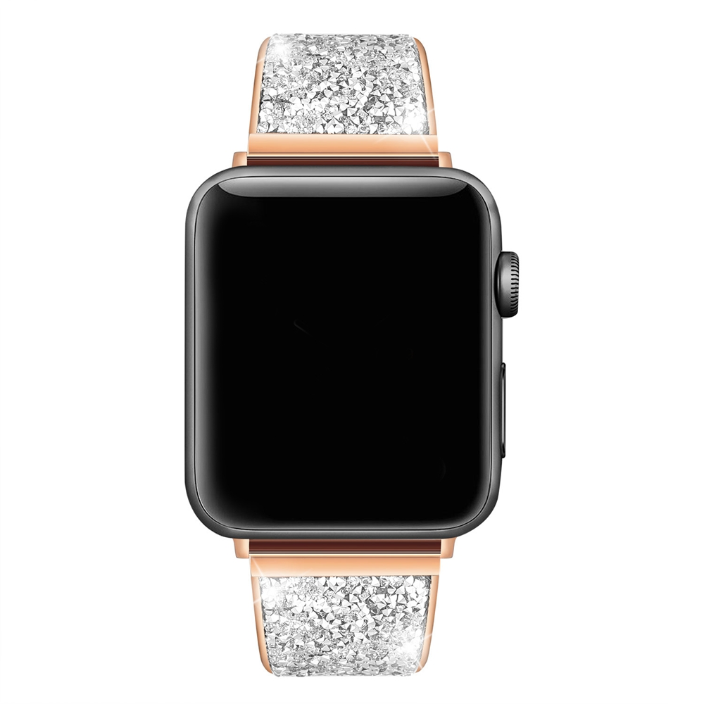 URVOI shiny band for apple watch series 3 2 1 strap for iwatch luxury Glitter zirconia link bracelet modern design 38 42mm цена