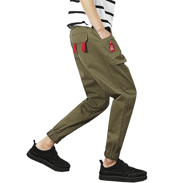 2017 мода slim fit мужчины лодыжки длины брюки бегунов мужские AYG213 pantalons homme штаны 3 цвета M-5XL