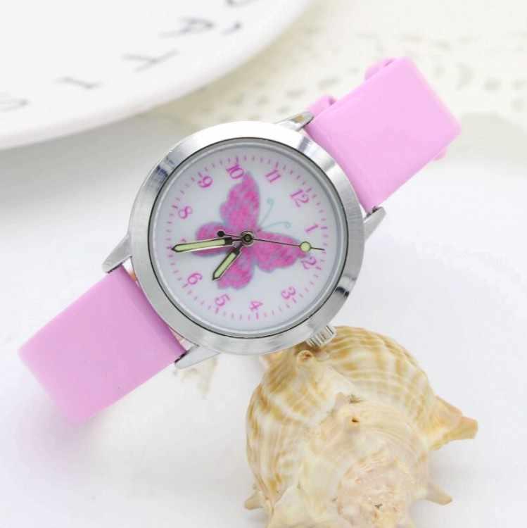 2018 אופנה יהלומי קטן בנות יופי פרחים חיוג קוורץ שעון ילדים באיכות גבוהה מזדמן עור שמלת שעון ילד מתנה