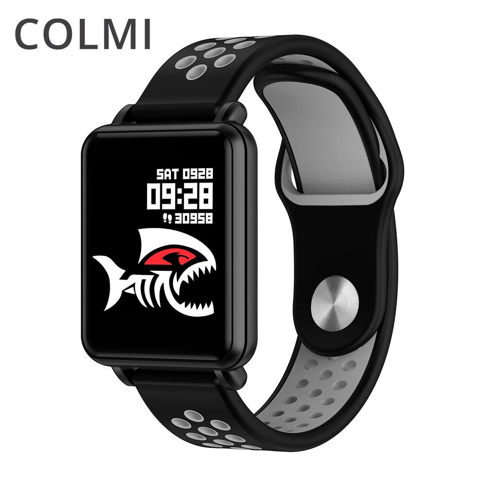 COLMI TERRA 1 relógio Inteligente display Full touch rastreador De Fitness Empurre mensagem IP68 Laminado à prova d' água Para iphone e celular com Android