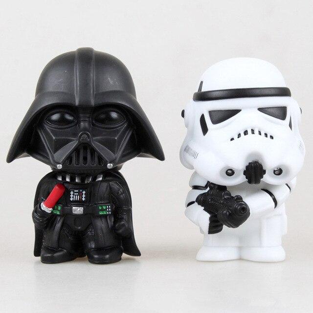 Star Wars Yoda Darth Vader Action Figure Doll Toys The Force Awakens Jedi Master Yoda Anime Figures Lightsaber 3