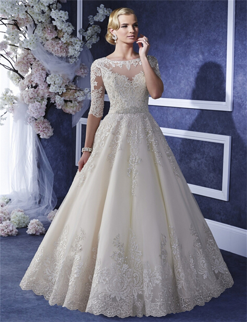 Classy lace wedding dresses images for Classy short wedding dresses