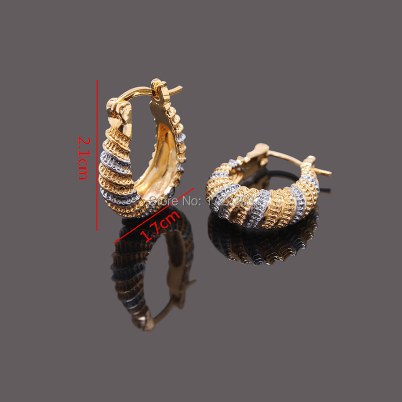 Bangrui Cheap two tones golden earrings girls Dubai gold earrings ...
