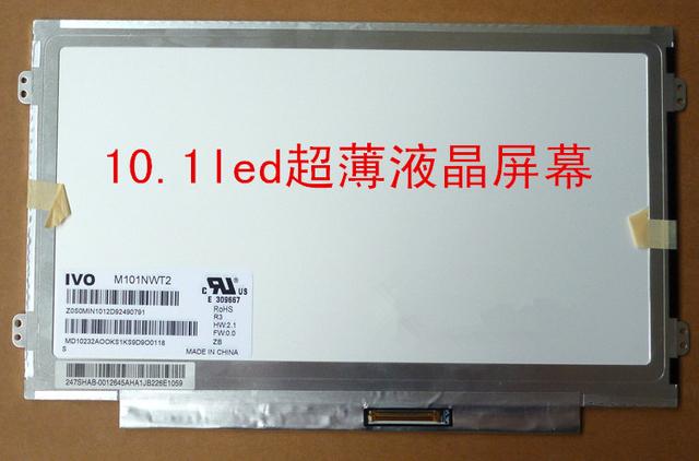 Envío gratis M101NWT2 R5 M101NWT2 R3 M101NWT2 R0 B101AW06 B101AW02 N101L6-L0D 1024 X 600 10.1 LED SLIM Laptop pantalla LCD LED