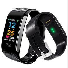 Nova CK18S Banda Inteligente Pressão Arterial e Freqüência Cardíaca Relógio de Pulso Pulseira De Fitness Rastreador Pulseira Pedômetro Android & IOS PK CK11S