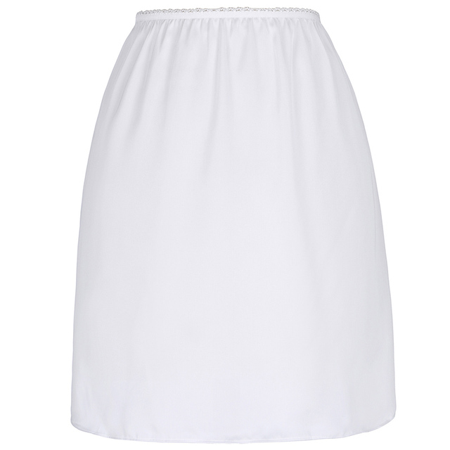Kate Kasin White Half Slip Petticoat Women Short Slips Underskirt Ladies Sexy Waist Elastic Black Solid Slip For Dress