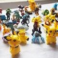 De dibujos animados Mini Minifigure Figuras de Acción De Regalo Pikachu Anime Pocket Monster juguete de Títeres Muñeca Muñecas Juguetes de Juego de la Mano del Niño