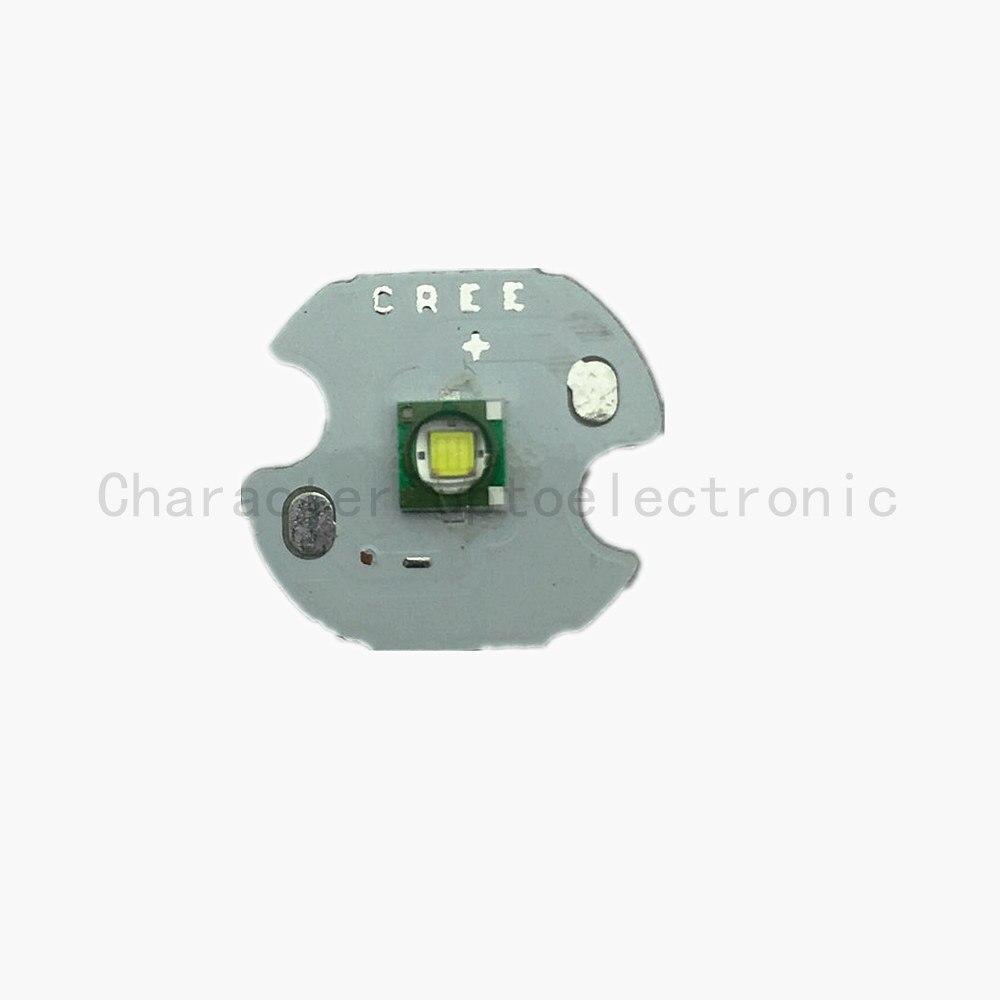 Купить с кэшбэком 5pcs Cree XP-E R3 1-3W LED Emitter Diode Warm White 3000K Naturally white4000k  Cool White 6500K with20/16/14/12/10/8mm heatsink