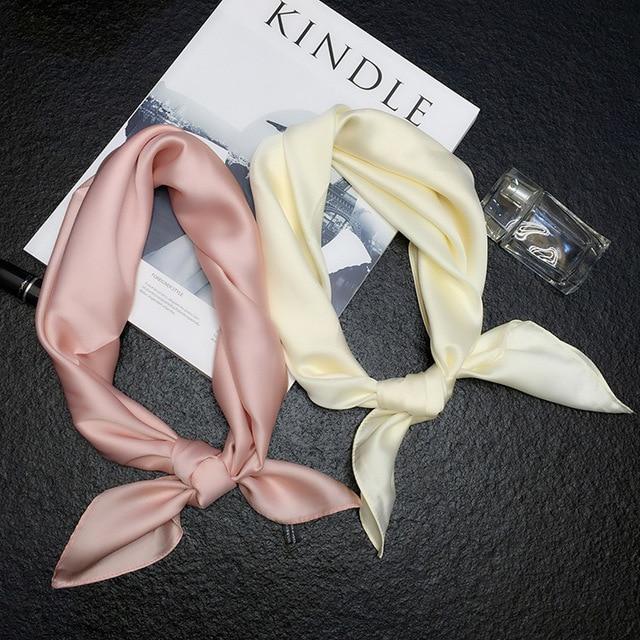 luxury brand silk fashion lady square soft shawls 1