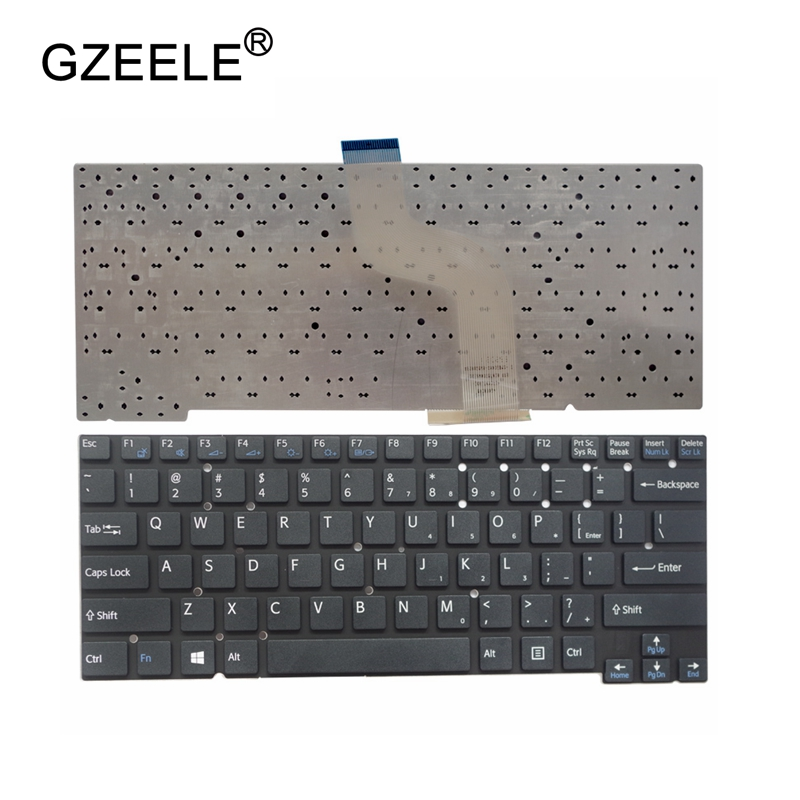 GZEELE NEW English keyboard For Sony Vaio SVT131A11V SVT1312L1RS SVT13114GXS SVT13116FXS SVT13118FXS SVT13 Laptop without frame полотенце arya miranda 70x140 cream f0002403