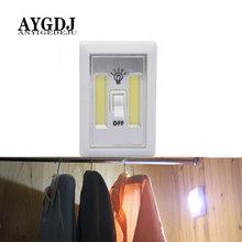 Magnetyczne oświetlenie LED szafy z przełącznikiem bezprzewodowa szafa szafka nocna szafka lampka do szafy do oświetlenia sypialni w kuchni tanie tanio ANYIGEDEJU AYGC9996 Suche baterii 1000000h Use AAA Battery(Without)