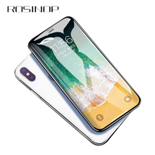 ROSINOP 10D Scratch Proof Protective Glass For iphone XS Max 6 7 8 plus Tempered Phone Screen Protector Film XR