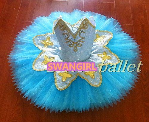 child blue bird ballet tutu girls professional ballet costumes sleeping beauty performance tutu classical danceSB0066