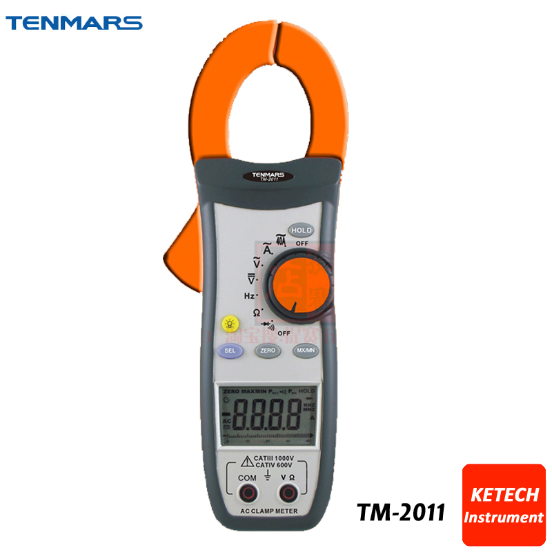 Data Hold, Peak Hold, Min/Max, Autoranging Handheld AC Digital Clip-on Table Tester Clamp Meter TM2011 цена