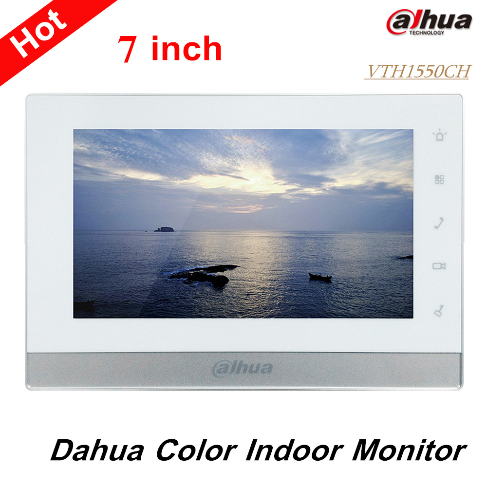 Original Dahua 7 inch 800X480 Resolution English Touch Screen Color Indoor Monitor VTH1550CH Export version without
