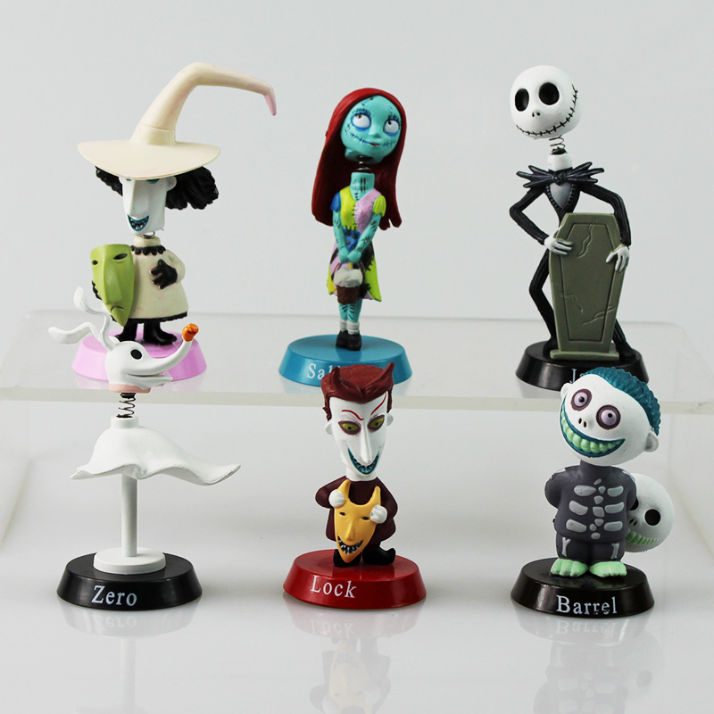 Anime Nightmare Before Christmas Jack PVC doll Action Figures Toy 6pcs/Set patrulla canina with shield brinquedos 6pcs set 6cm patrulha canina patrol puppy dog pvc action figures juguetes kids hot toys
