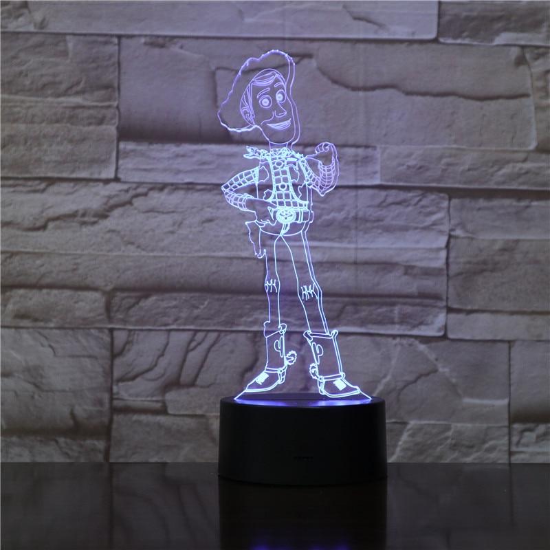 Woody Desenhos Animados 3D Ilusão Cores Mudando