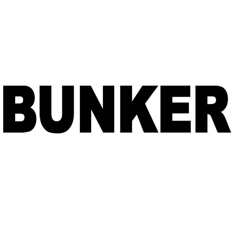 CK2443#23*5cm 60*13cm  BUNKER Funny Car Sticker Vinyl Decal Silver/black Car Auto Stickers For Car Bumper Window Car Decorations